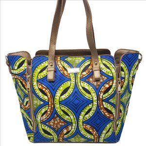 HALO & WAY Multi-Color Goldtone Hardware Handbag